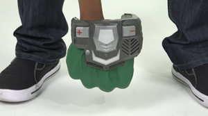 Gamma Gear on a player's fist