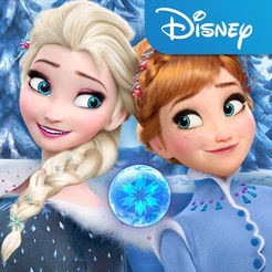 Frozen Free Icon featuring Anna and Elsa